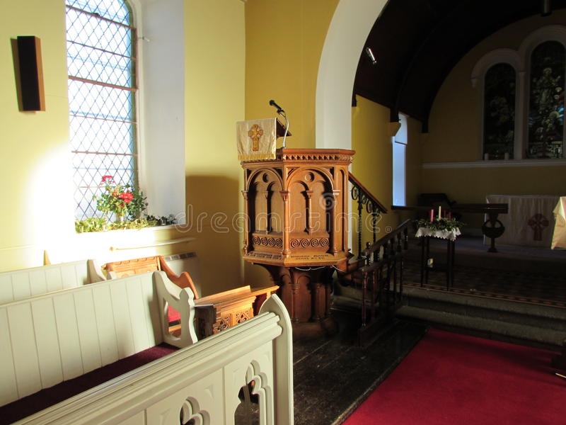 Kościelny pulpit obrazy royalty free