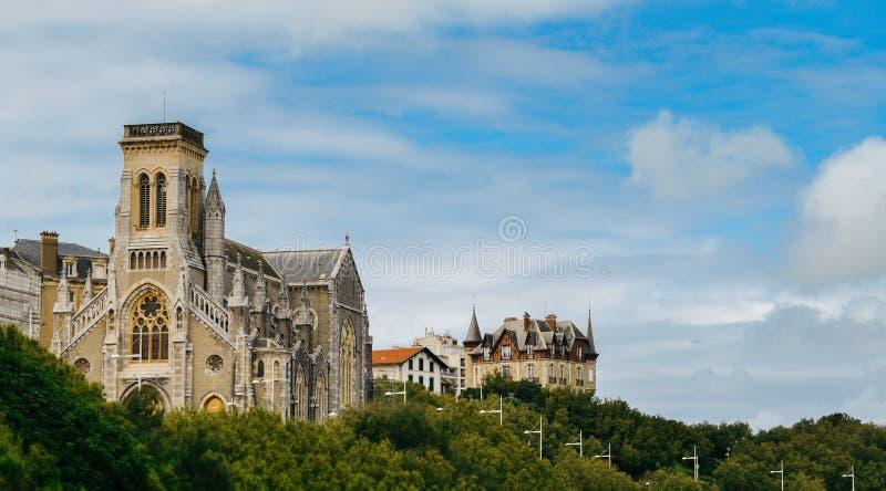 Kościelny Sainte-Eugenie w Biarritz, Francja fotografia stock