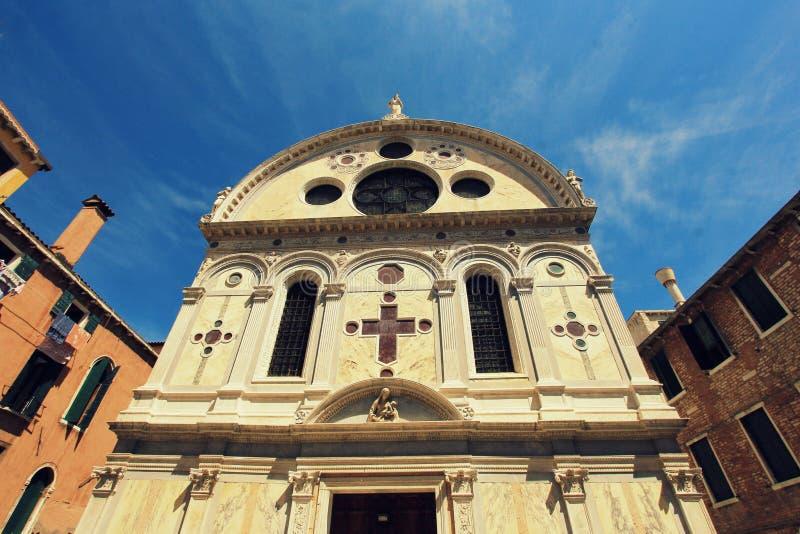 Kościelny Santa Maria dei Miracoli w Wenecja zdjęcie stock