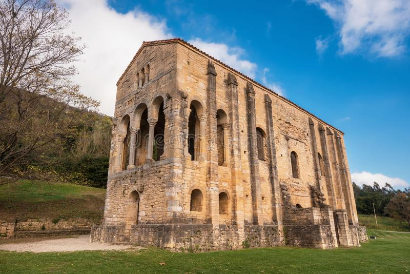 Kościelny Santa Maria Del Naranco Oviedo Asturias Hiszpania obrazy royalty free