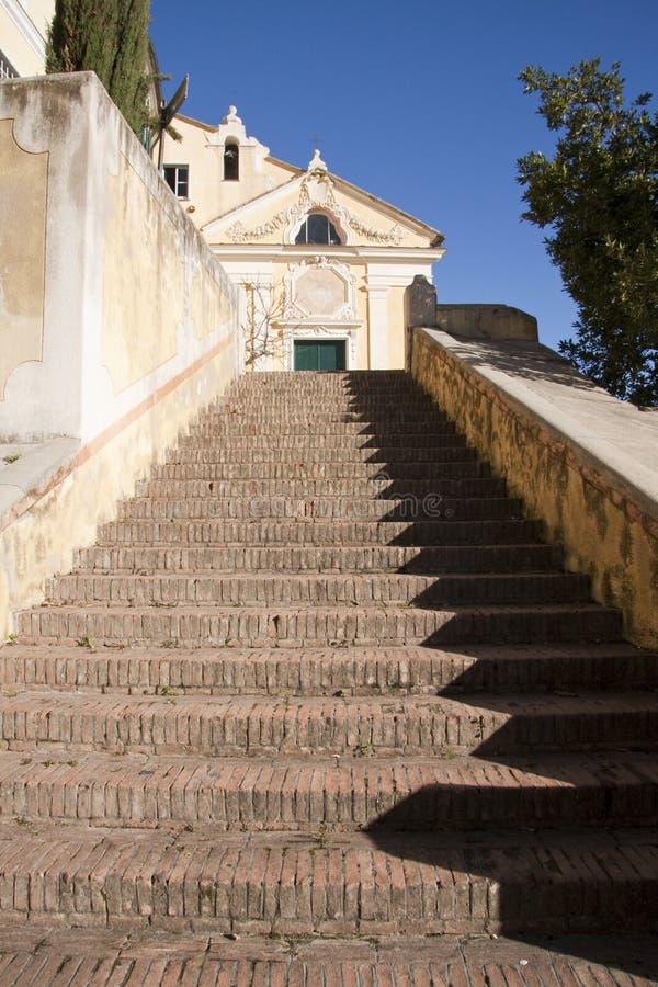 kościelny schody fotografia royalty free