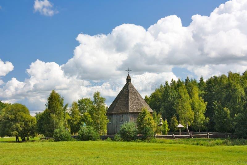 kościelny stary drewniany zdjęcia stock