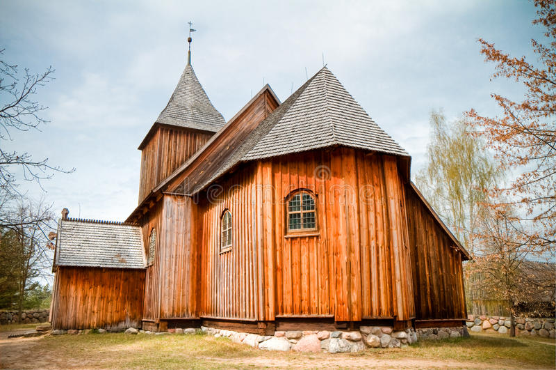kościelny stary drewniany zdjęcie royalty free