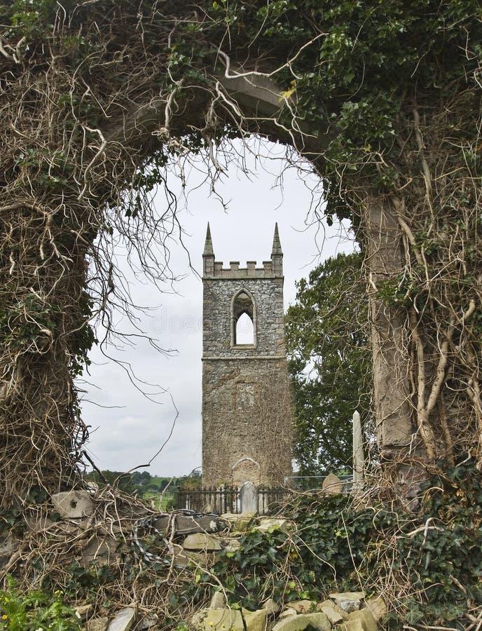 kościelny stary wiejski fotografia stock