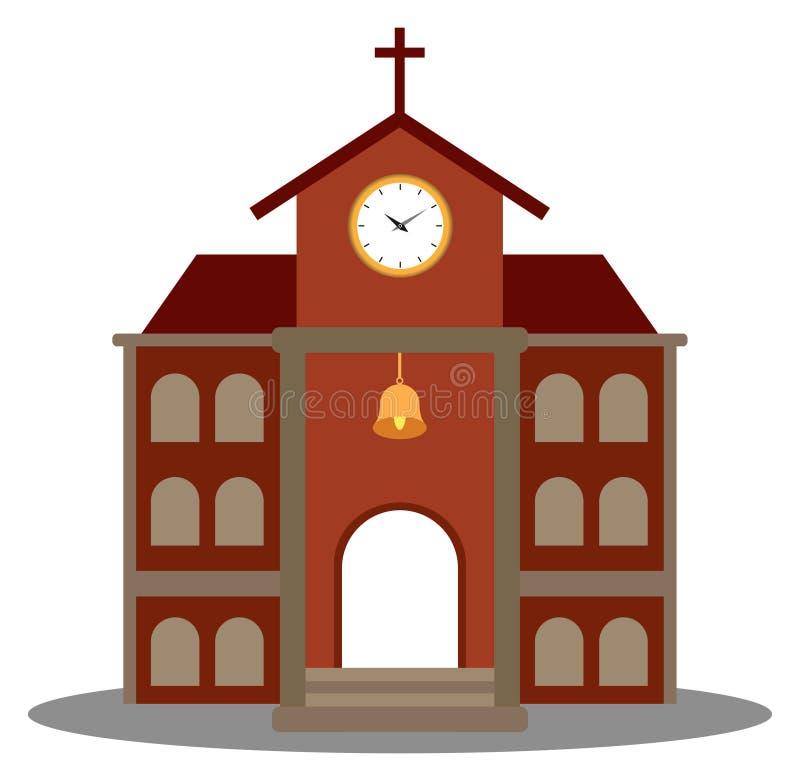 Kościelny symbol dla religii architektury projekta ilustracja wektor