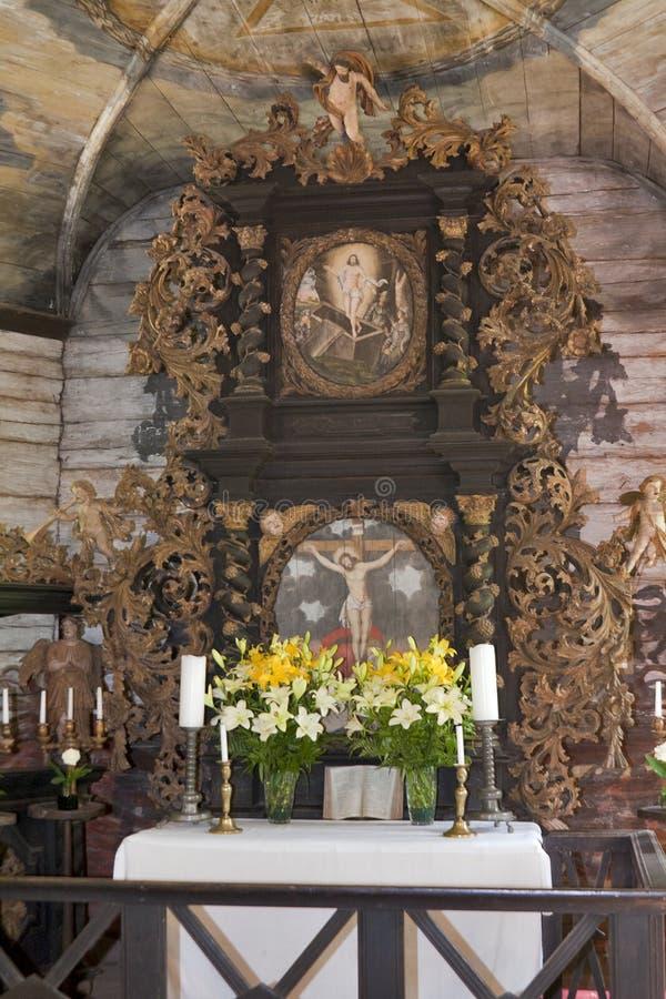 kościelny wewnętrzny lutheran zdjęcia stock