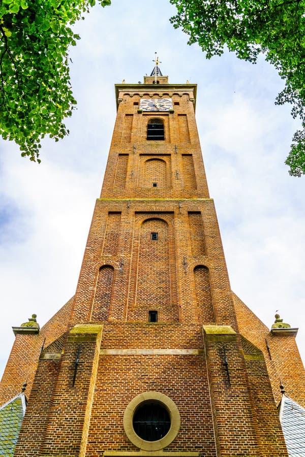 Kościelny wierza Beemster Keyserkerk w starej holenderskiej wiosce Midden Beemster zdjęcie royalty free