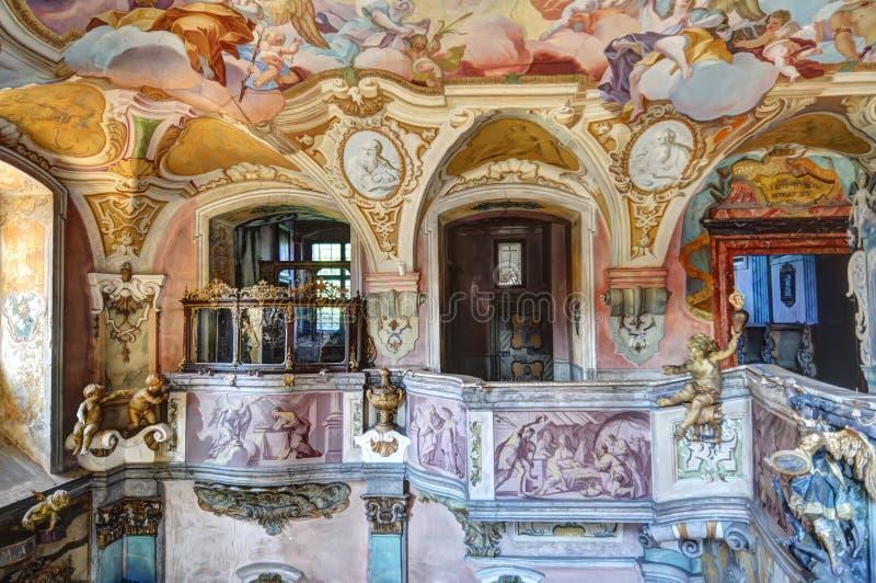 kościelny wnętrze obraz royalty free