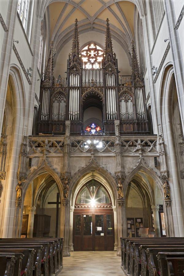 Košice - хор и орган от собора Элизабета святой готского стоковое фото rf