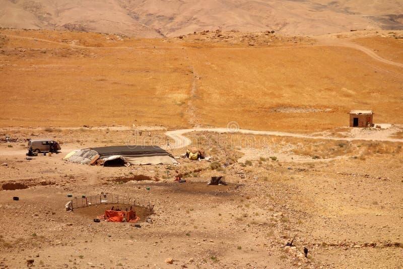 Koźli baca obóz w Jordania obrazy stock