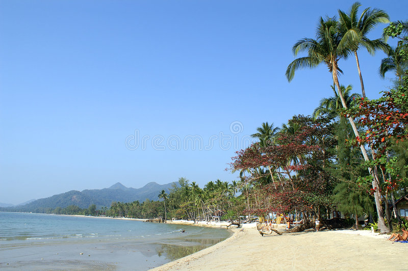 ko chang пляжа стоковые изображения