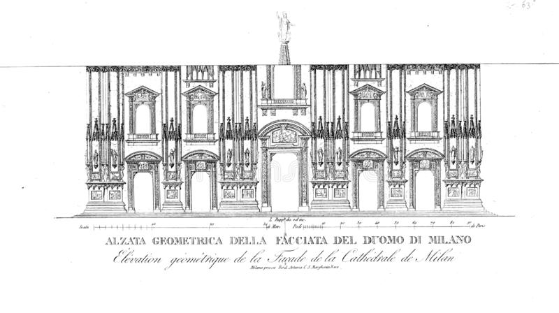 Ko?ci?? i katedra royalty ilustracja