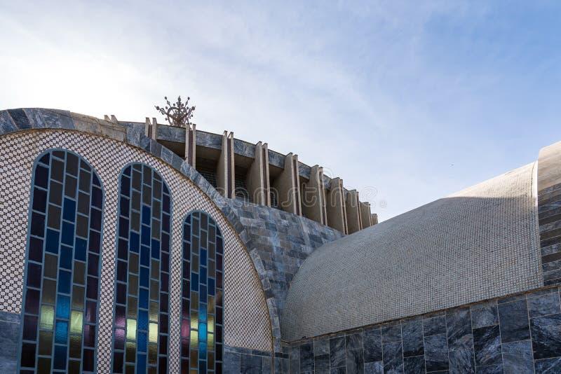 Ko?ci?? Nasz damy St Mary Zion Axum, Etiopia obrazy royalty free