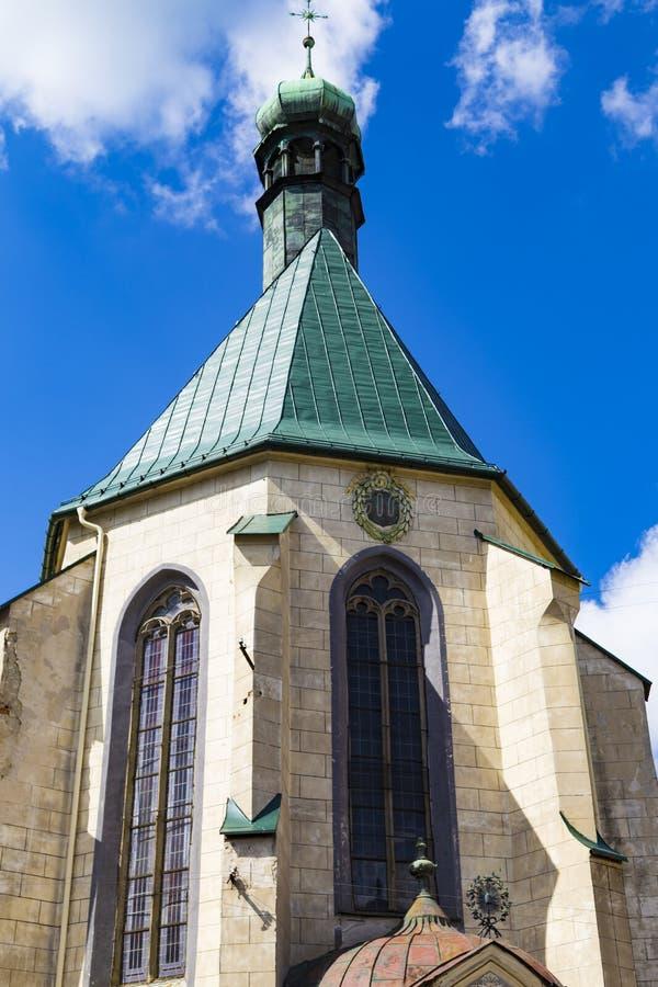 Ko?ci?? St Catherine powierzchowno??, Banska Stiavnica, Sistani zdjęcia royalty free