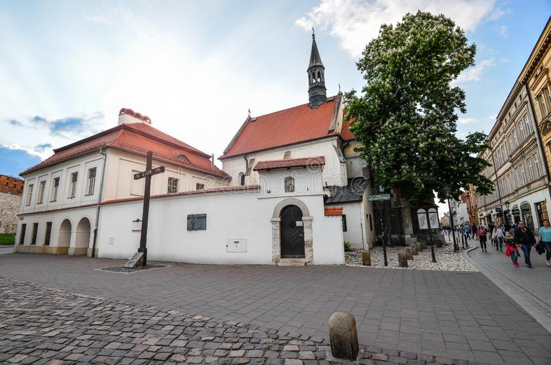 Ko?ci?? St Giles w Krakow, Polska obraz stock
