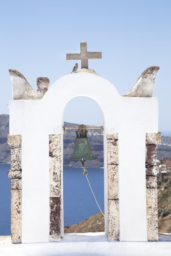 Ko?cielny dzwon na Ortodoksalny Ko?cielny wierza zdjęcia royalty free