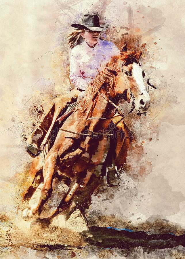 Koń Lubi ssaka, akwareli farba, koń, sztuka