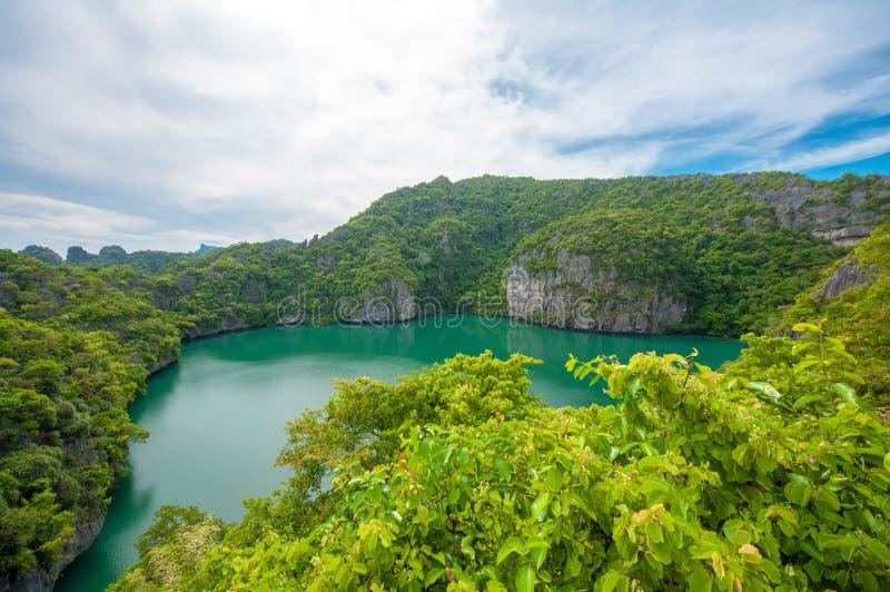 Ko Mae Ko. Panoramic view of the Ko Mae Ko Island in Thailand stock images