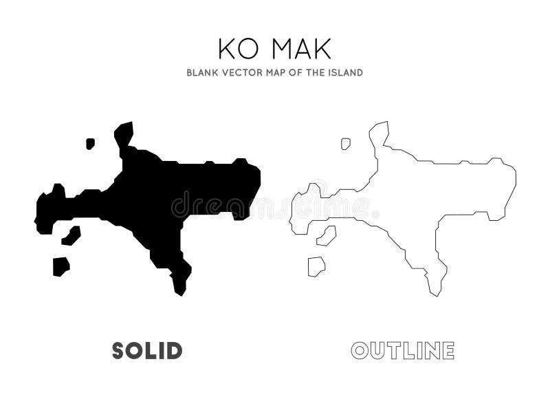 Ko Mak mapa ilustracji