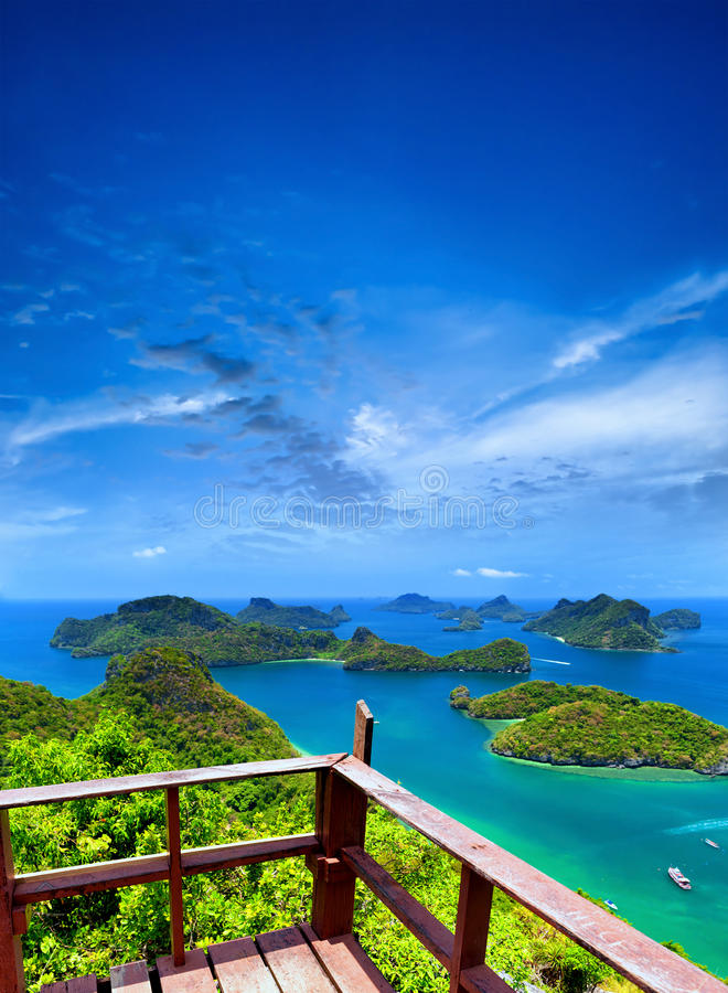 Ko Samui angthong national marine park archipelago in Thailand royalty free stock photo