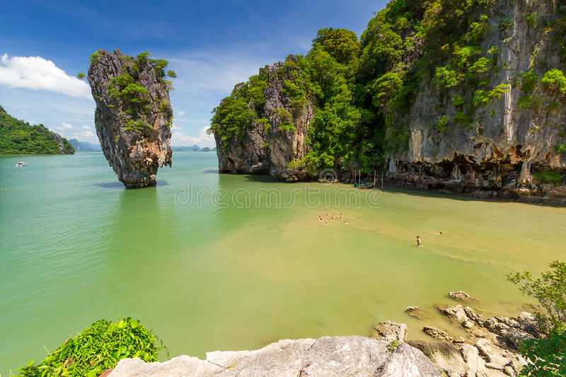 Download Ko Tapu Rock On The Phang Nga Bay In Thailand Stock Image - Image: 29208409