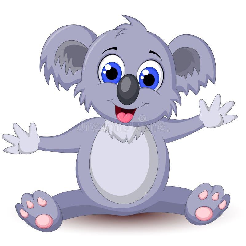 Koala κινούμενων σχεδίων για σας σχέδιο διανυσματική απεικόνιση