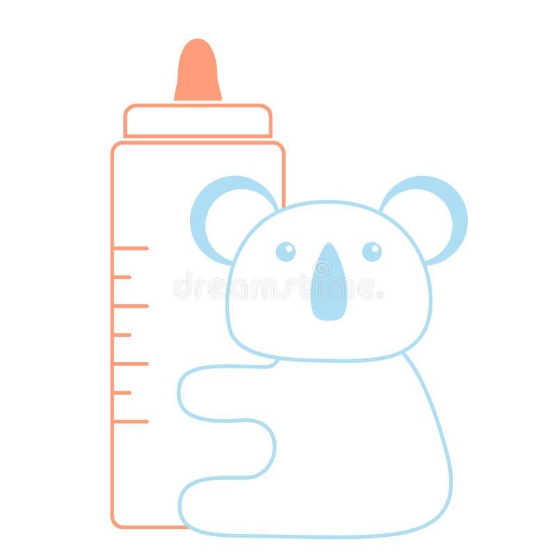 Download Koala stock vector. Image of baby, background, pink, shape - 13183255