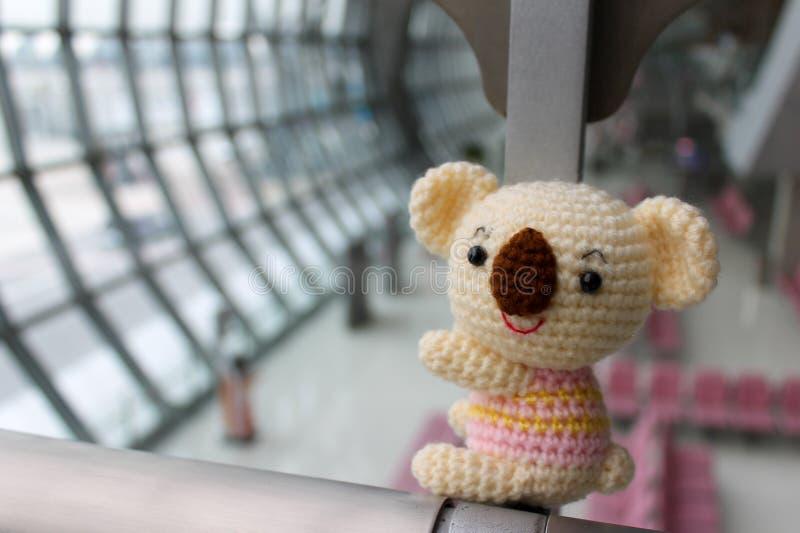 Koala Amigurumi - Hand made crochet koala doll royalty free stock images