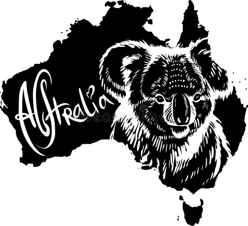 Koala como o símbolo australiano ilustração stock
