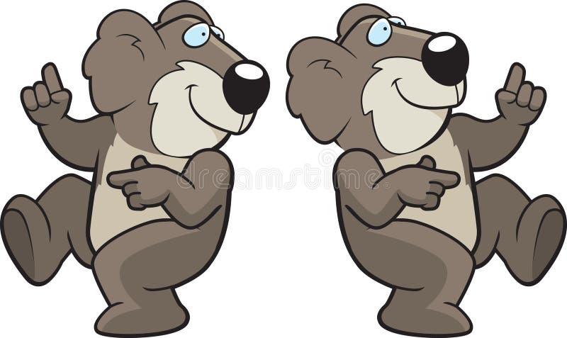 Koala da dança ilustração do vetor