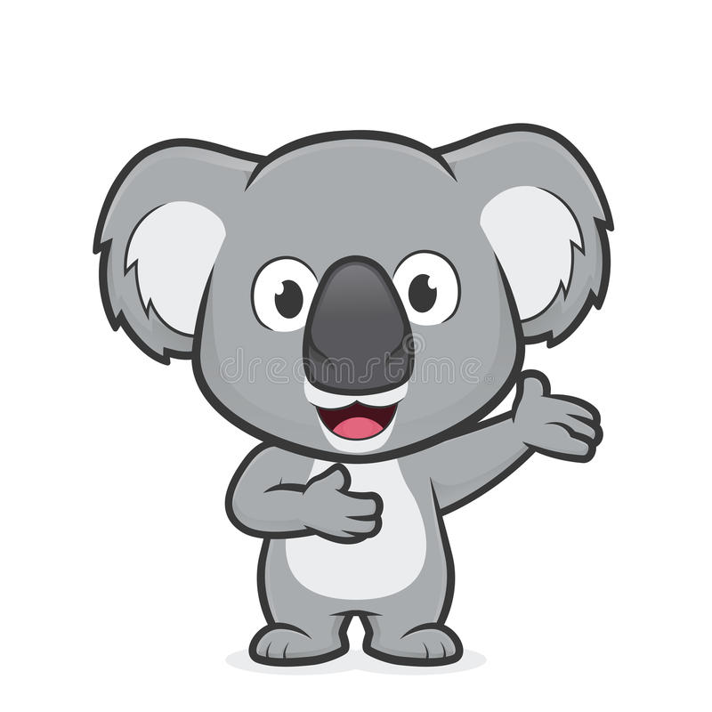 Koala in der freundlichen Geste vektor abbildung