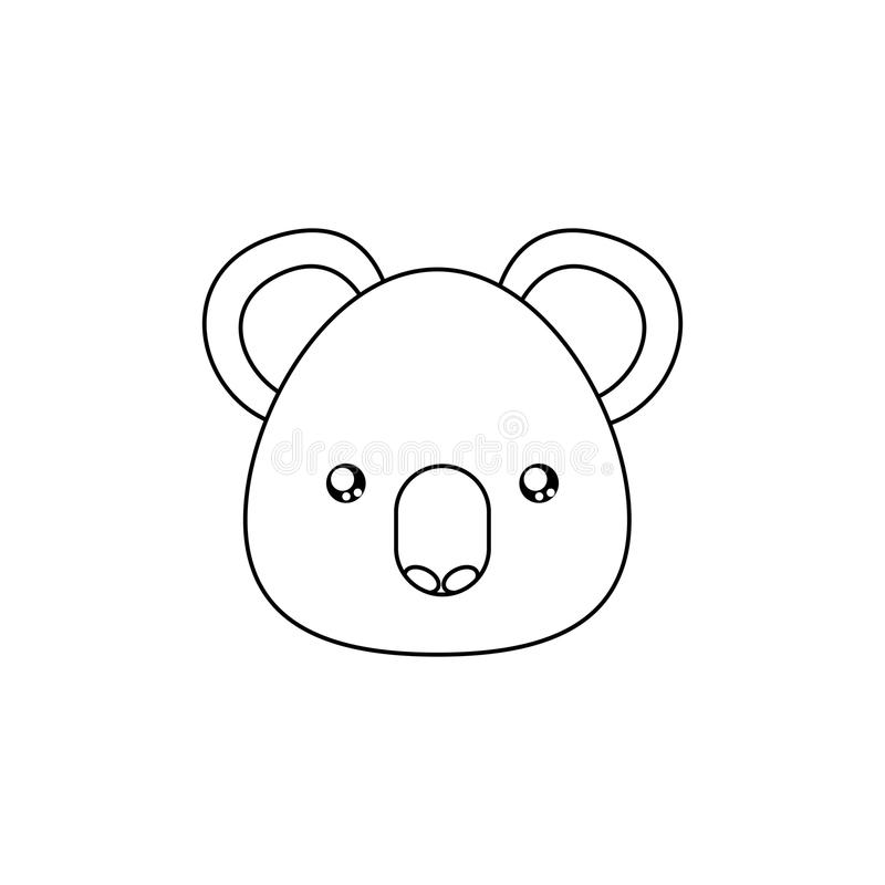 Line Drawing Koala : Koala drawing face stock vector illustration of character