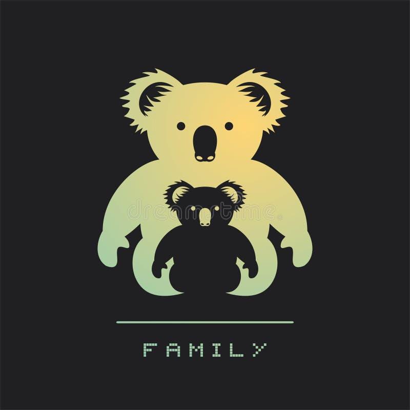Koala family symbol. Creative design of koala family symbol royalty free illustration