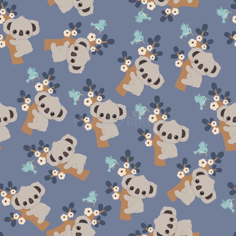 Download Koala Floral Seamless Pattern Stock Vector