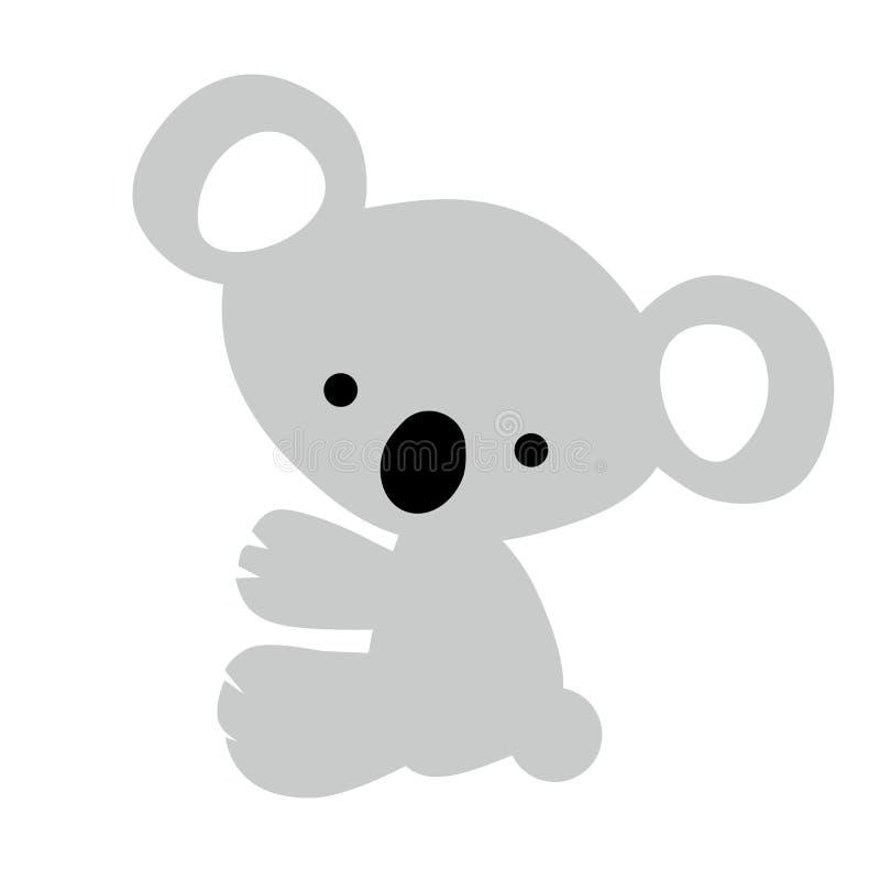 Koala Gris Linda Del Bebé Del Color Del Icono Pequeña En El Fondo ...