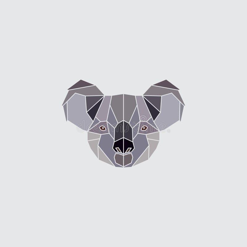 Koala kierowniczy logo ilustracja wektor