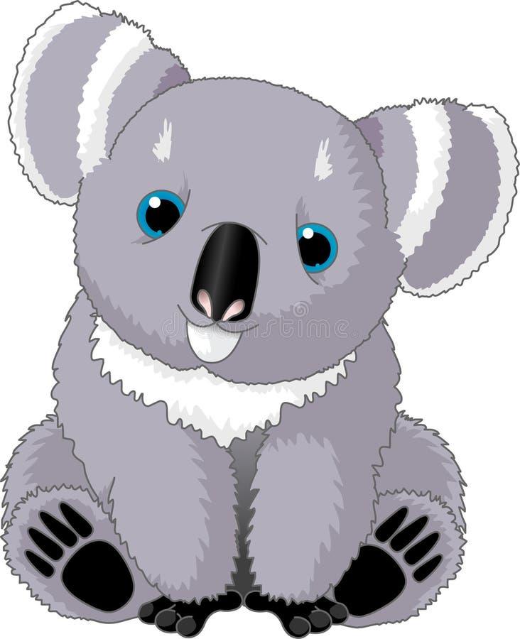 Koala lindo ilustración del vector