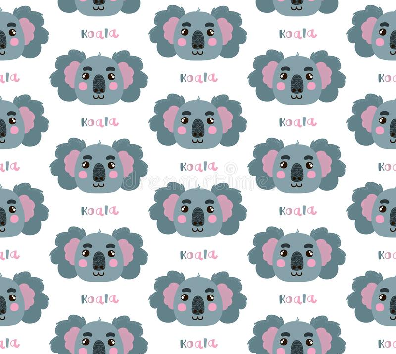 Koala-nahtloses Vektor-Muster stock abbildung