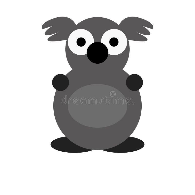 Koala-nette Tierzeichentrickfilm-figur für Kinder stockfoto