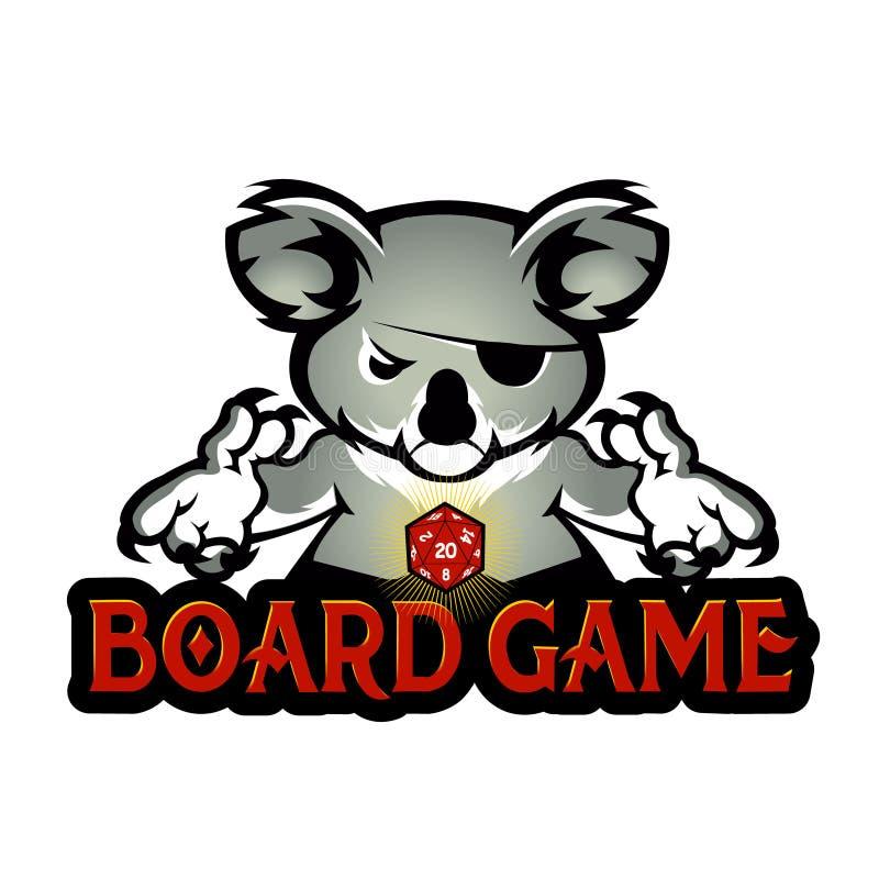 Koala que juega dados ilustración del vector
