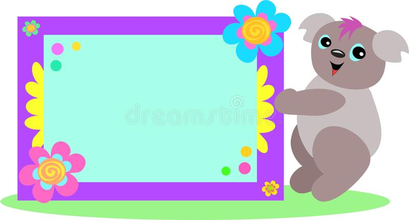 Download Koala With Spiral Floral Sign Stock Vector - Image: 14043170