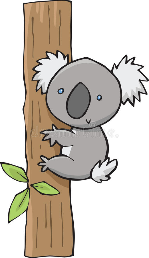 Koala sveglia illustrazione vettoriale