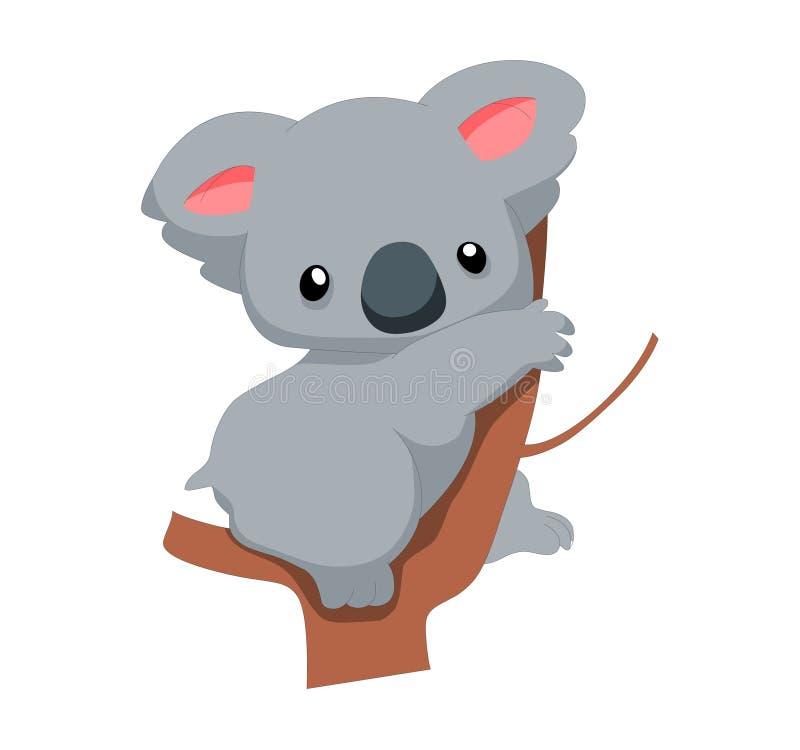 Koala tan linda stock de ilustración