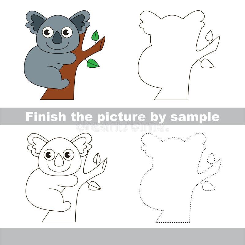 koala Teckningsarbetssedel vektor illustrationer