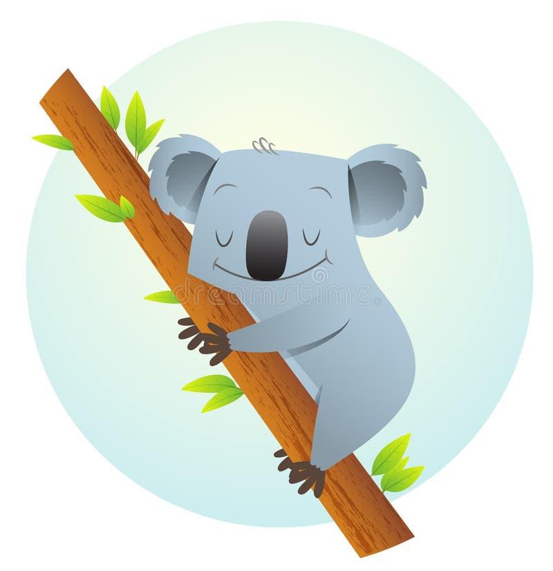 Koala on the tree stock illustration