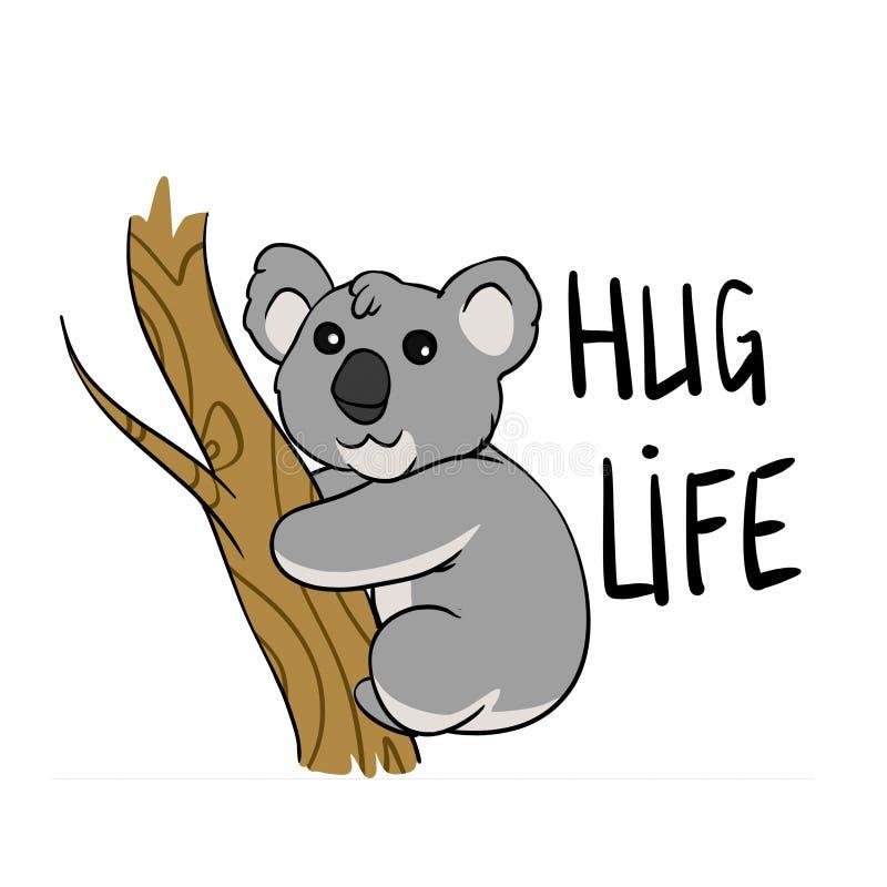 Koala - Umarmungsleben lizenzfreie abbildung