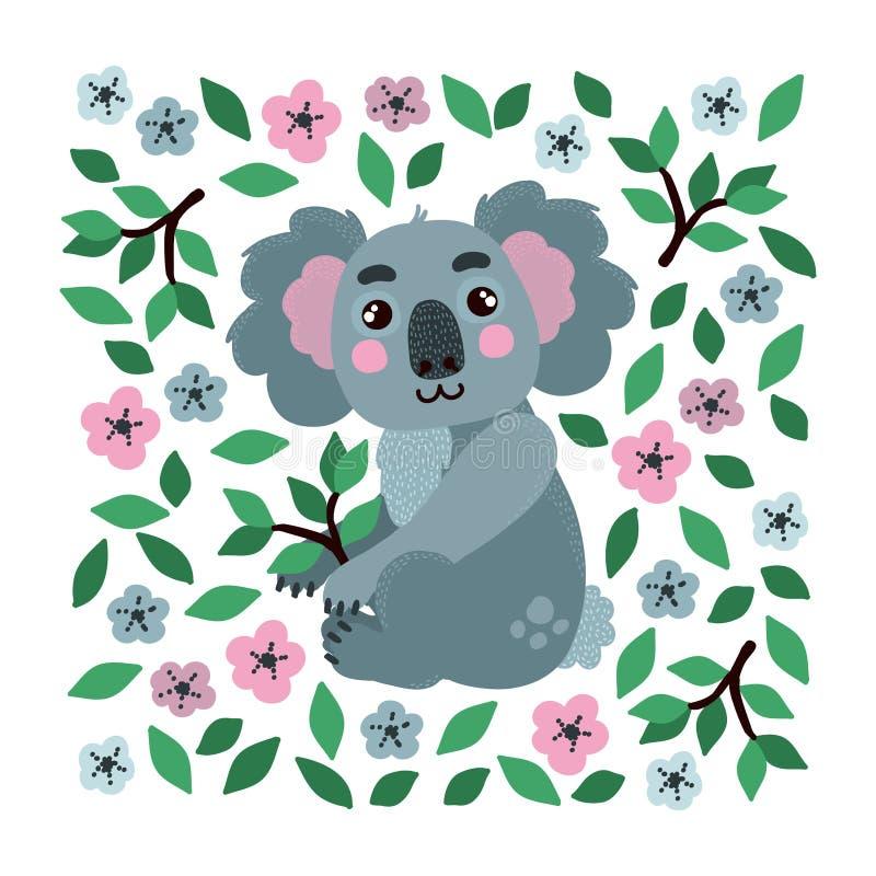 Koala-Vektor-Illustration stock abbildung