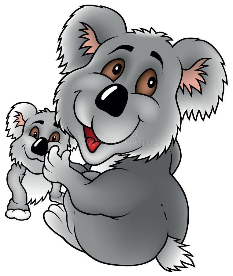 Koala y Cub ilustración del vector