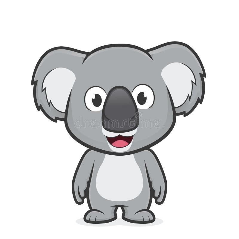 Koalastellung lizenzfreie abbildung