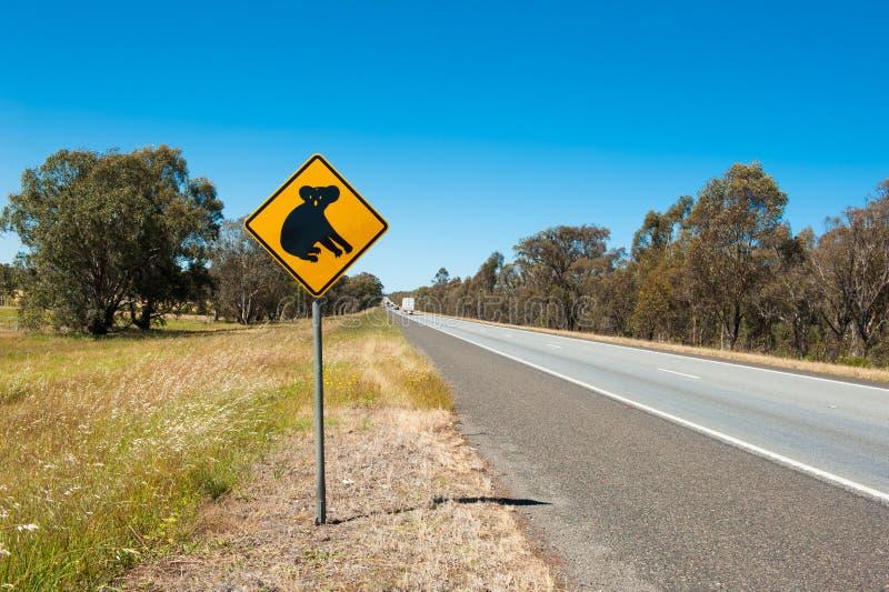 Koalawaarschuwing stock afbeeldingen